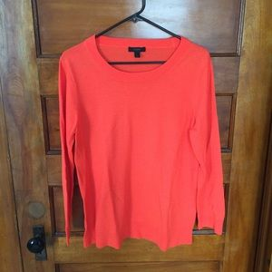 J.Crew 100% Merino Wool Orange Sweater